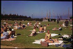 Marina Beach Holiday crowd.  San Francisco. July 4th, 1940