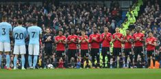 The two teams take part in a minute's applause in honour of Ray Wilkins ahead of the Premier League match between Manchester City and Manchester United at Etihad Stadium on April 2018 in. Get premium, high resolution news photos at Getty Images Manchester United Football, Manchester City, Ray Wilkins, Premier League Matches, Two By Two, The Unit, Club, Image, Manchester United Soccer