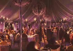 concept art map for Bill & Fleur's wedding
