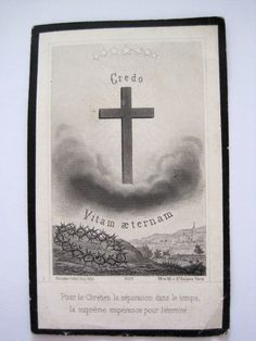 Antique French Mourning Card Dated 1882 by VintageFrenchFinds, $13.00