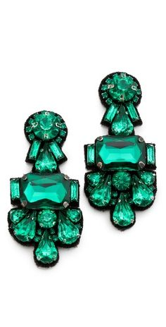 Deepa Gurnani  Deepa Gurnani Crystal Cluster Earrings