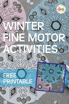 Get this fun and simple snowflake fine motor activity. Kiddos enjoy punching holes in these paper snowflakes. Download the free printable snowflakes today. Use for your winter theme, snow theme, or snowflake theme unit and lesson plans in #preschool, #prek, kindergarten, and OT. Add them to your fine motor center, or art and craft centers. Decorate a tree, decorate your classroom. Your kids will have so much fun with this. Click to get your free printable. Fine Motor Activities For Kids, Fun Indoor Activities, Winter Activities For Kids, Winter Crafts For Kids, Snow Theme, Winter Theme, Bug Crafts, Preschool Crafts