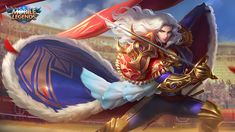 View an image titled 'Lancelot Art' in our Mobile Legends: Bang Bang art gallery featuring official character designs, concept art, and promo pictures. Wallpaper Hd Mobile, Wallpaper Hp, Game Character Design, Character Concept, Bruno Mobile Legends, Moba Legends, Alucard Mobile Legends, Golden Warriors, Legend Games