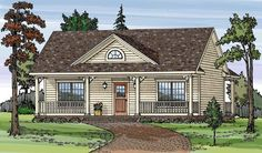 House Plan 79501 | Country Plan with 864 Sq. Ft., 2 Bedrooms, 1 Bathrooms For my baby sister