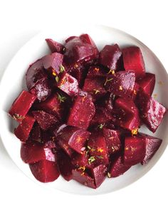 These sweet orange-laced beets go well with arugula and goat cheese salad or a roast beef dinner.