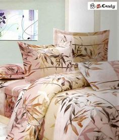 Home Candy Leaf Pattern Double Bed Sheet