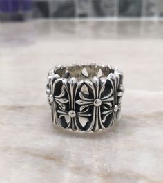 6e371ab18958 Chrome Hearts Cemetery Ring Sz. 9 Chrome Hearts Ring