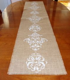 Special Gifts For Her, Embroidered Towels, Burlap Table Runners, Bed Runner, Burlap Crafts, Wool Runners, Tapestry Design, Hand Embroidery Designs, Machine Embroidery