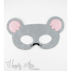 Mouse Mask ITH Embroidery Design