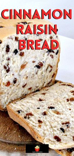 Fruit Recipes, Baking Recipes, Dessert Recipes, Brunch Recipes, Cinnamon Raisin Bread, Best Homemade Bread Recipe, Homemade Breads, Easy Bread, Bread Maker Recipes