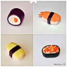 EAT MORE CAKE: Criações com Pasta de Açúcar - Sushi