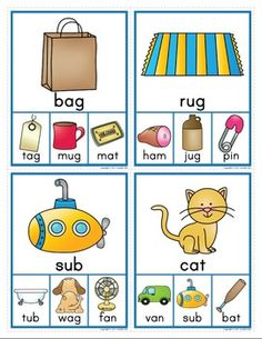 CVC RHYMING CLIP CARDS: RHYMING ACTIVITY FOR EARLY CHILDHOOD EDUCATION - TeachersPayTeachers.com