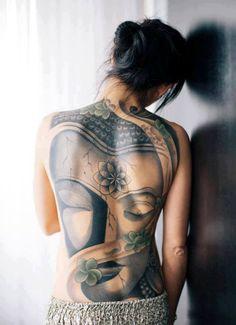 Buddha tattoo.