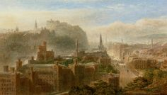 Edinburgh from Carlton Hill by Edward Angelo Goodall, Pencil and Watercolor