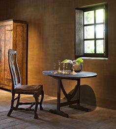 Wine table Limepainted walls