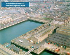Dublin Docks, 1994. Pre-development. Dublin Street, Dublin City, Dublin Ireland, Ireland Travel, Old Pictures, Old Photos, City Council, 1990s, Custom Homes
