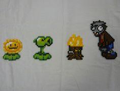Zombie Perler Beads Pony Bead Patterns, Hama Beads Patterns, Beading Patterns, Plants Vs Zombies, P Vs Z, Plantas Versus Zombies, 8 Bit Art, Perler Bead Templates, Fusion Beads