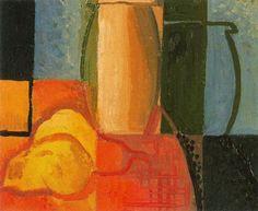 Pere Daura -Naturaleza Muerta -1929. Oli sobre tela. 22 x 27 cm.-Ciudad de la pintura - La mayor pinacoteca virtual