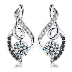 c600b9e53 Classic 2.2g 100% Genuine 925 Sterling Silver Female Earring Fine Jewelry  Vintage Wedding Stud
