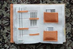 Felt Needle Book Tutorial - Making It Up as I Sew AlongYou can find Needle book and more on our website.Felt Needle Book Tutorial - Making It Up as I Sew Along Needle Case, Needle Book, Needle Felting, Small Sewing Projects, Sewing Crafts, Cushion Tutorial, Diy Papier, Sewing Needles, Cross Stitch Needles