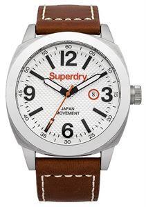 Reloj Superdry Thor Super Luxe, la versión más vintage, con correa de piel marrón de lo más robusta, y caja de 45mm, con claridad de imagen en su esfera. www.relojes-especiales.net #vintage #retro #watch