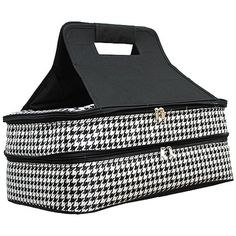 Houndstooth double casserole carrier!