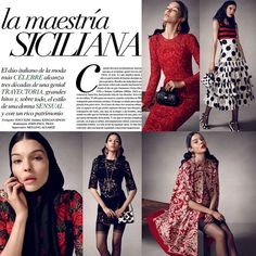 #StefanoGabbana Stefano Gabbana: Amazing and beautiful editorial story on Vogue Messico @voguemexico #dgeditorials #dgss15 #dgwomen #sicilyismylove #dgfamily ❤️❤️❤️
