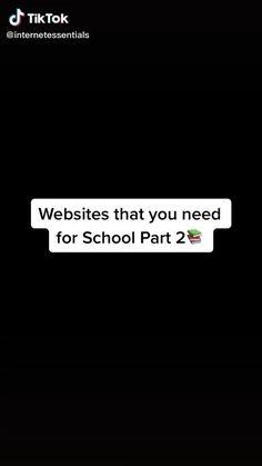 High School Hacks, High School Life, Life Hacks For School, School Study Tips, Middle School, School Tips, School Memes, Study Websites, School Websites