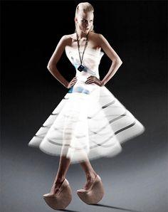 dress made of light