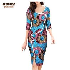 african fashion Image of 2018 african spring dress for women AFRIPRIDE three quarter sleeve knee-length split casual women dress button African Dresses For Kids, African Fashion Designers, Latest African Fashion Dresses, African Dresses For Women, African Attire, African Print Dresses, Casual Dresses For Women, Long Dresses, African Print Clothing
