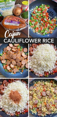 Easy Cajun Cauliflower Rice - Instrupix Best Picture For Keto Recipes For Your Taste You are looking Low Carb Dinner Recipes, Keto Dinner, Diet Recipes, Healthy Recipes, Soup Recipes, Smoothie Recipes, Bread Recipes, Healthy Foods, Easy Recipes
