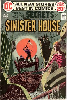 The Secrets of Sinister House 6 DC Comics by LifeofComics on Etsy Skeletons Kaluta Tales of Horror Terror Scary Creepy 1972 VF+ (8.5) #comicbooks
