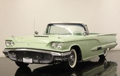1958 Ford Thunderbird convertible in mint green