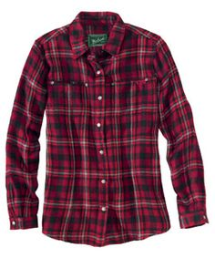 woolrich women's sawyer plaid shirt jac- deep ruby