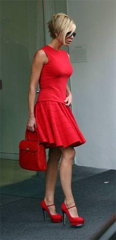 Victoria Beckham-Lady in Red_Asprey Bag Photograph