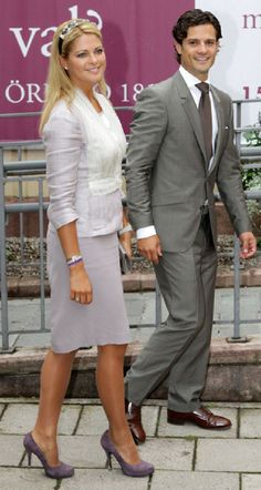 Siblings... Princess Madeleine and Prince Carl Philip of Sweden
