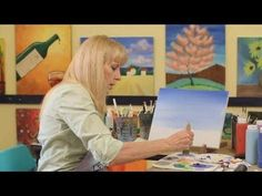 How to Paint the Sky | Acrylic Painting - YouTube