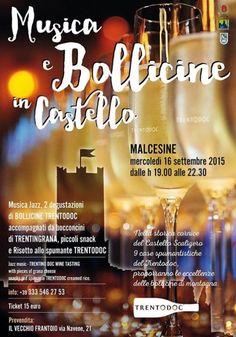 Musica e Bollicine in Castello è l'iniziativa che si tiene a Malcesine mercoledì 16 settembre 2015 @gardaconcierge