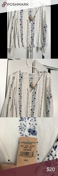 New with tags, American eagle outfitters Top Large size, cute top for fall! Never worn, with tags! American Eagle Outfitters Tops Camisoles
