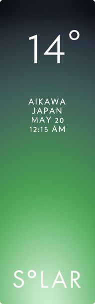 佐渡市 weather has never been cooler. Solar for iOS.
