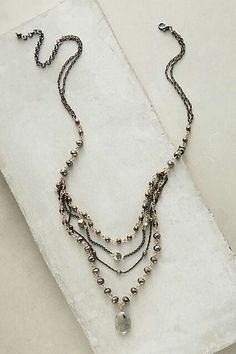 """Freyja Layer Necklace #anthropologie  $39 ($58) DETAILS Metal, glass. Style No. 38197323 Dimensions 18""""L with 3"""" extender chain. 3"""" bib"""