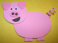 Como hacer un cerdo de papel cartulina