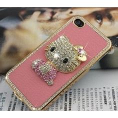 Hello Kitty Luxury Pink Leather Rhinestone Crystal Case Cover for Iphone 5 #Hello Kitty #Iphone 5 #Cover  #Cover for Iphone 5  www.empowernetwork.com/almostasecret.php?id=ethan1