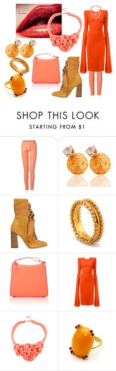 """""""Untitled #1358"""" by vronvron ❤ liked on Polyvore featuring Faith Connexion, Chloé, 3.1 Phillip Lim and Alex Perry"""