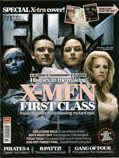 UK Total Film, Marvel,X-Men First Class,The Inbetweeners,Pirates X Men, Justice Magazine, The Inbetweeners, British Magazines, Bryan Singer, Movie Magazine, Hunger Games Trilogy, Film Books, Spots