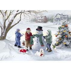 Absolutely Adorable! No Longer Available as of 2014 Maltese Snowscape - Maltese Christmas Cards - The Danbury Mint