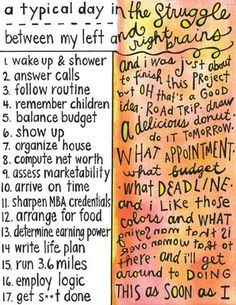 so conflicted. want to be left brain but oh, so right brained