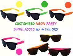 da51038d63 Customized Neon Party Sunglasses w  4 Colors