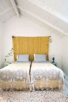 A breezy guest room in a Comporta, Portugal, home