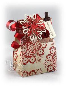 Holiday Treat bags by @Julee Tilman. (She's my hero.) - This template: http://shop.thedigitalpress.co/Funky-Bag-2.html